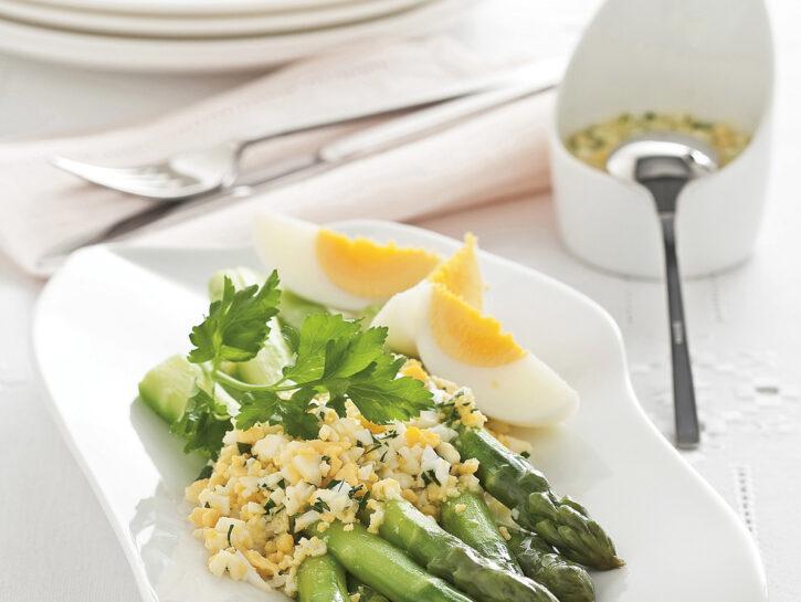 Salsa mimosa con asparagi