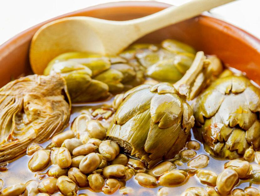 ricetta fave e carciofi