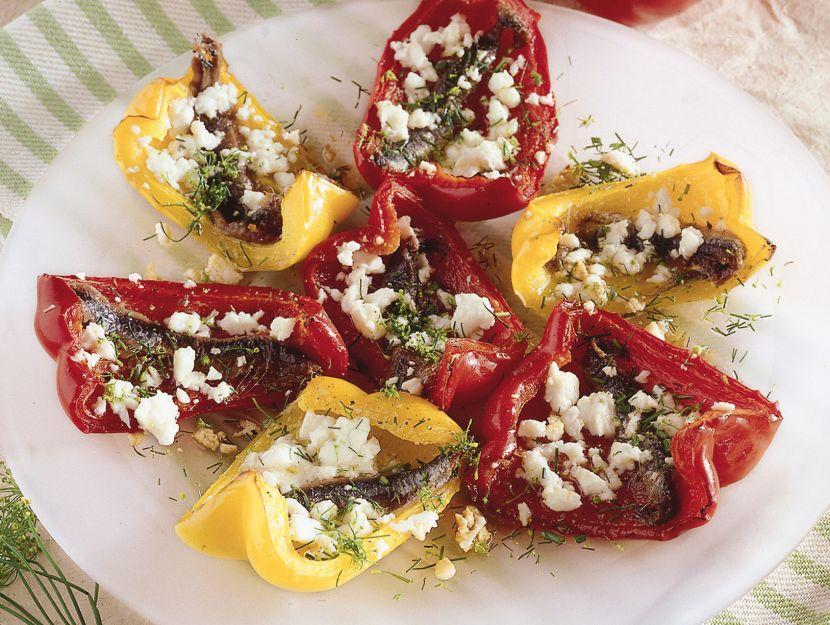 peperoni-con-feta-e-acciughe ricetta