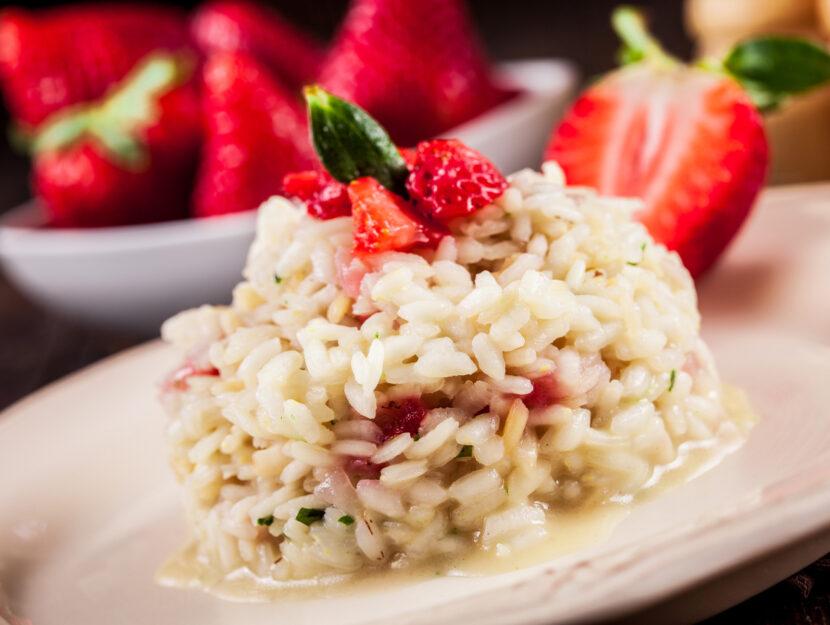 ricetta risotto alle fragole