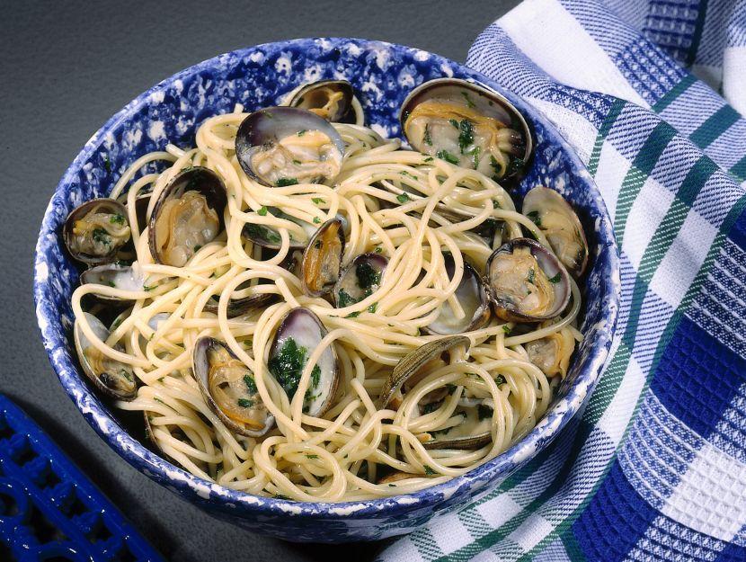 spaghetti-con-le-vongole step