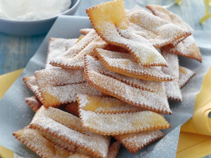 Chiacchiere fritte alla vaniglia