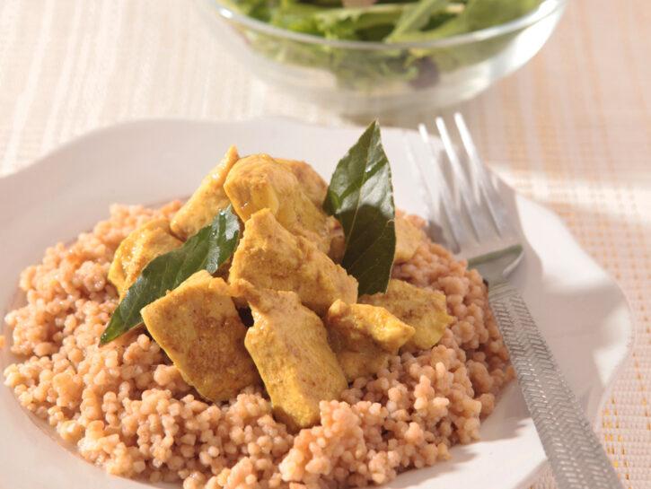 Cous cous con pollo al curry
