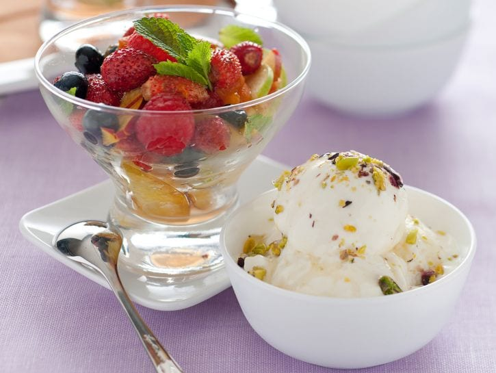 Gelato allo yogurt senza panna