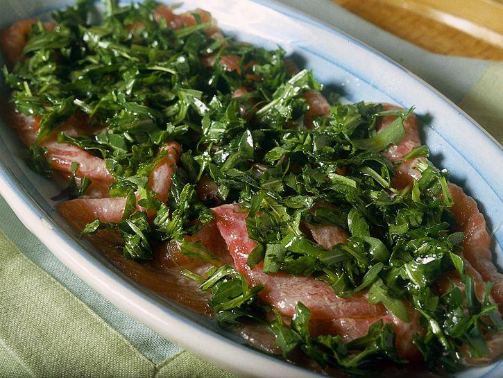 carpaccio-di-salmone-alla-rucola preparazione