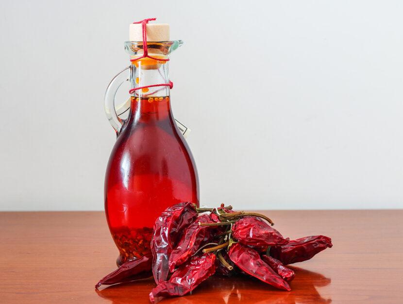 Olio al peperoncino piccante