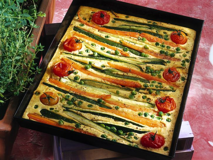 farinata-di-ceci-arricchita-alle-verdure ricetta