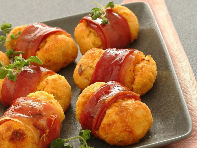 Crocchette di patate dolci allo speck