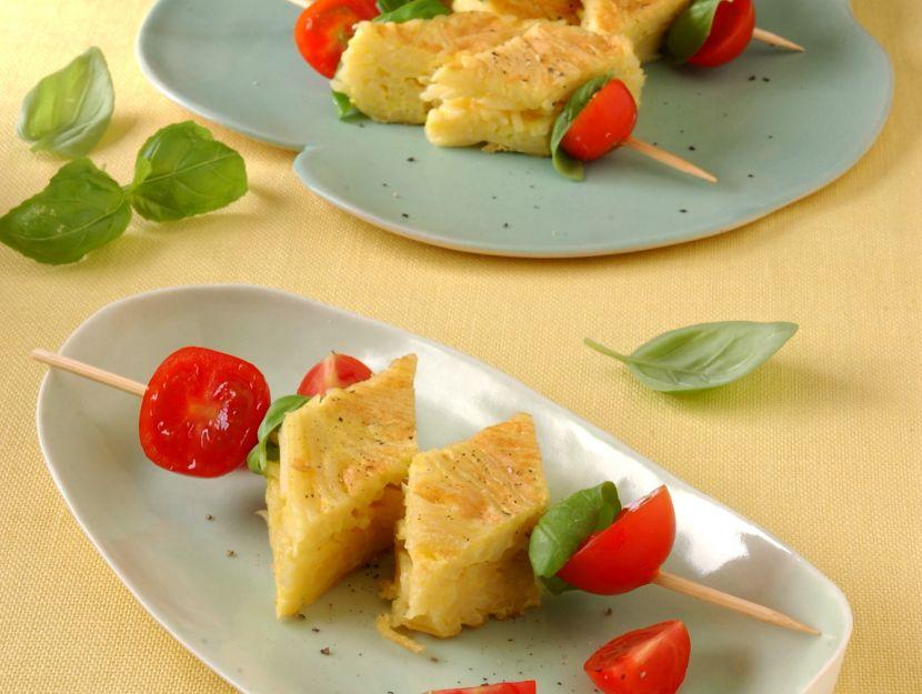 lecca-lecca-di-pasta-e-pomodorini foto