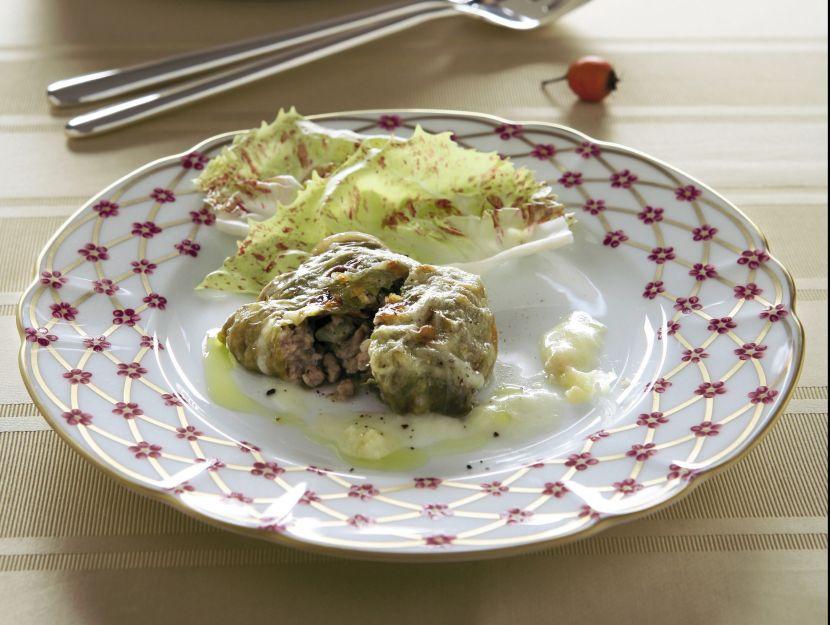 fagottini-di-radicchio-variegato-farciti-con-tacchino preparazione