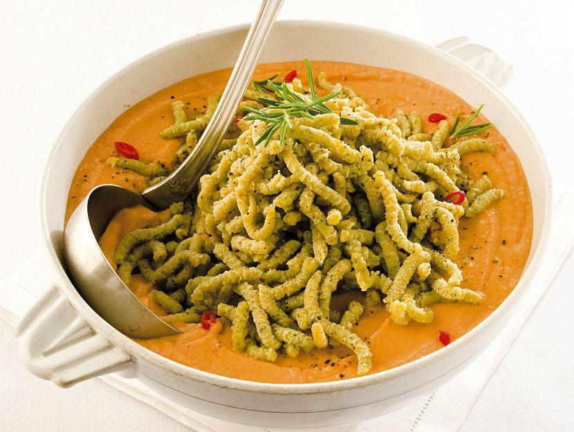 ricetta passatelli-verdi-alla-crema-di-ceci