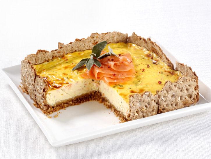 Cheesecake salato al salmone affumicato