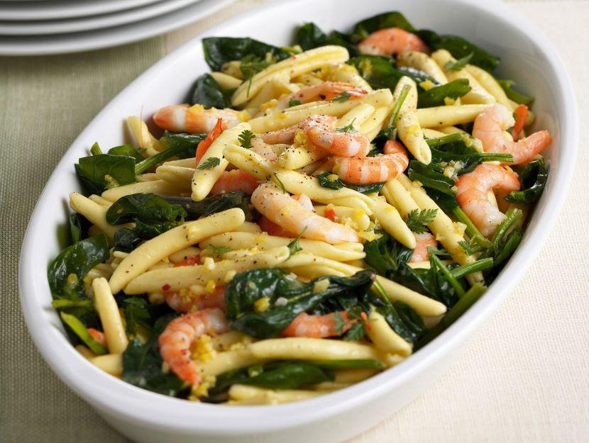 maccheroni-con-spinaci-e-gamberi