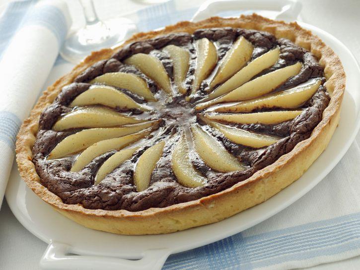 crostata-di-cioccolato-e-pere immagine