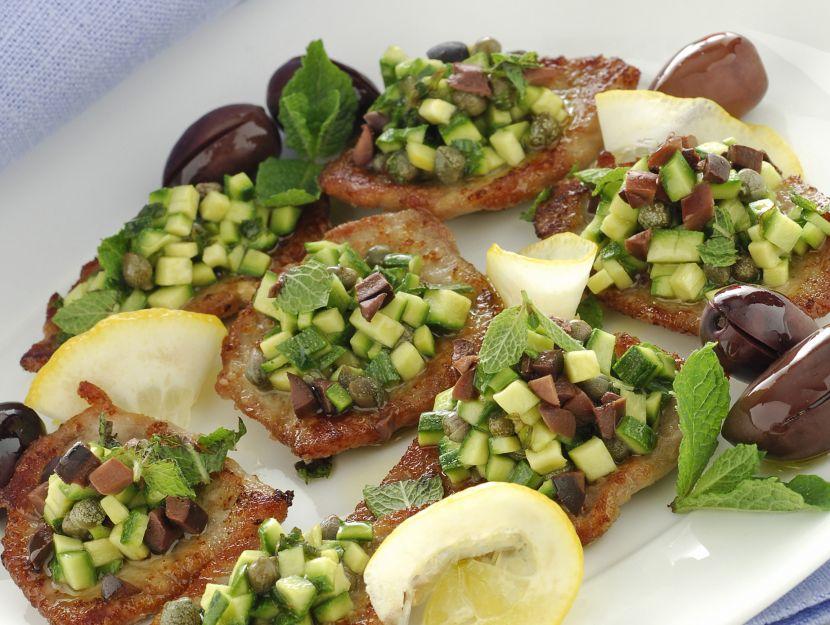 scaloppine-fredde-con-ragu-di-zucchine immagine