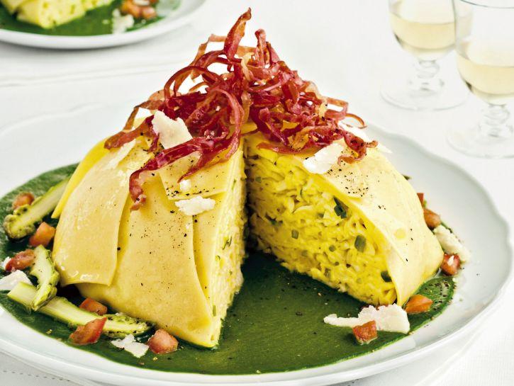 ricetta timballo-agli-asparagi