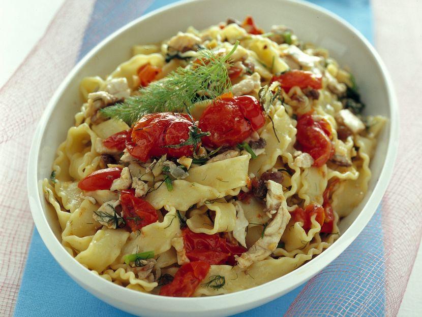 reginette-con-pesce-spada-e-pomodorini ricetta