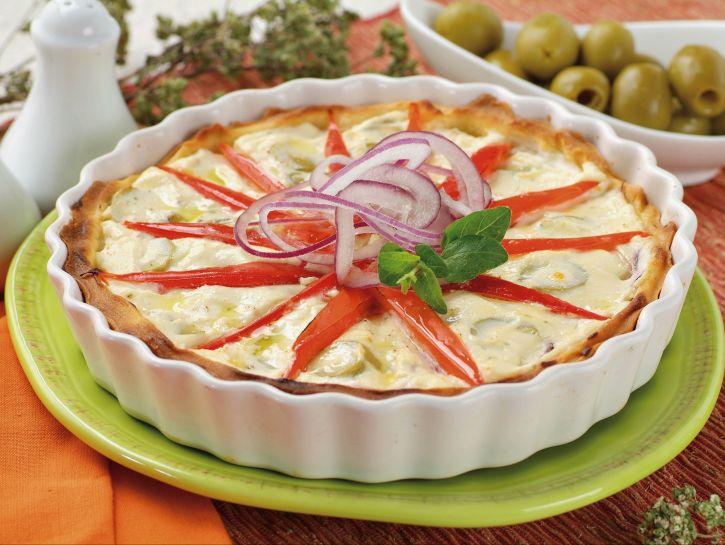 crostata-di-ricotta-con-cipolle-e-olive immagine