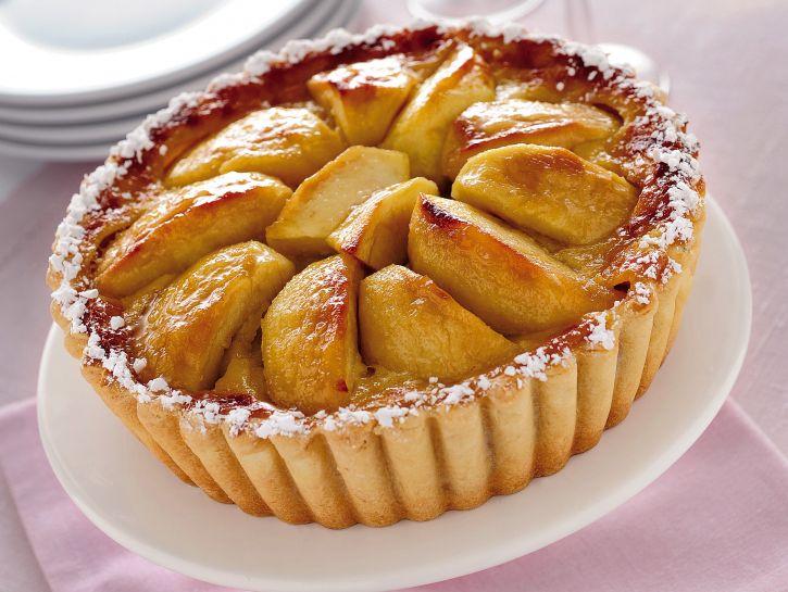 Crostata con due mele alla panna