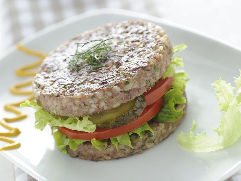 panino-di-hamburger-di-agnello-e-riso immagine
