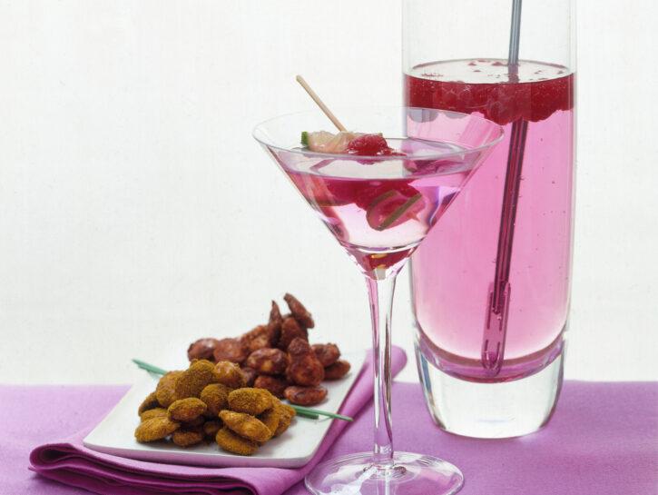 Mandorle e drink al melograno