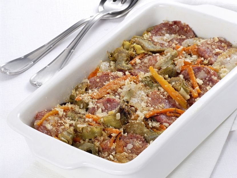 cotechino-e-verdure-al-gratin