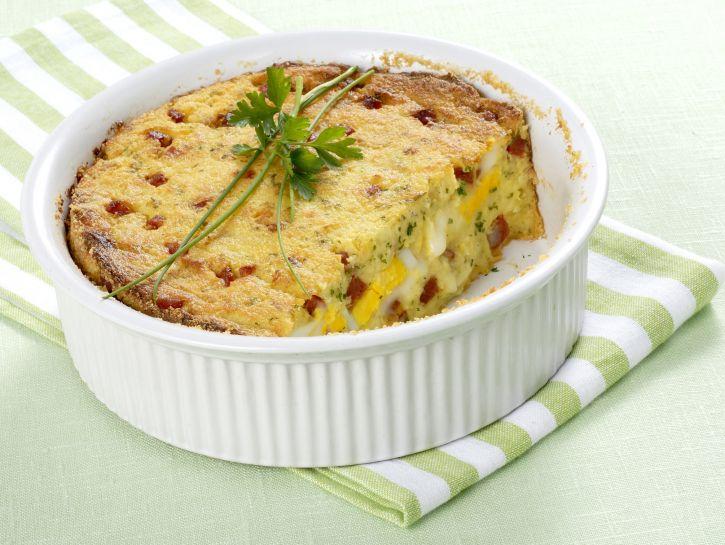 timballo-di-patate-con-provolone-e-salsiccia foto
