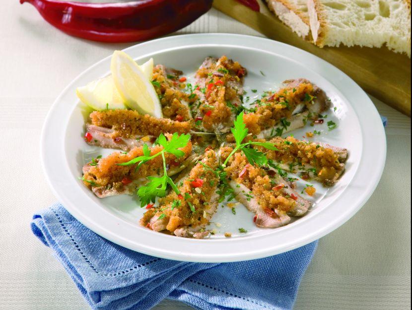 alici-gratinate ricetta