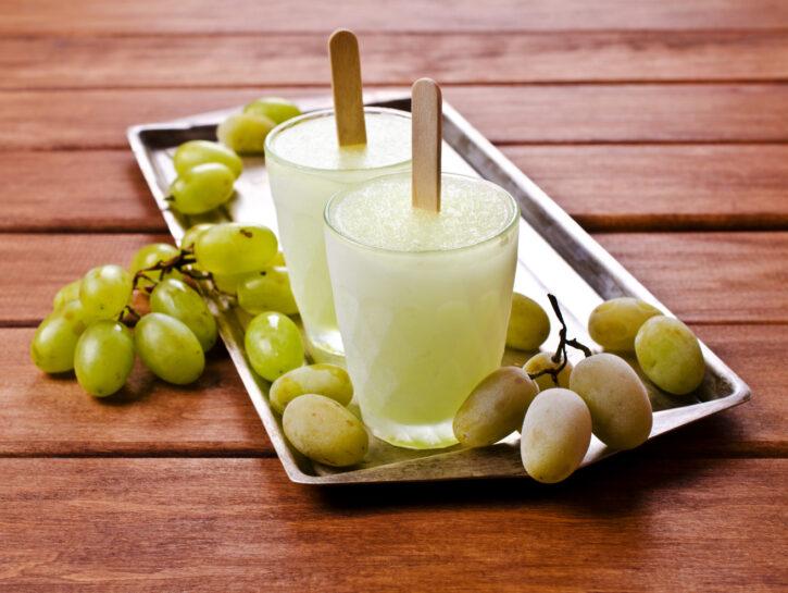 Ghiacciolo con uva