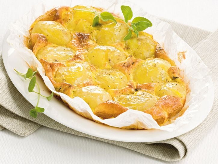 Tortino soffice di patate al forno