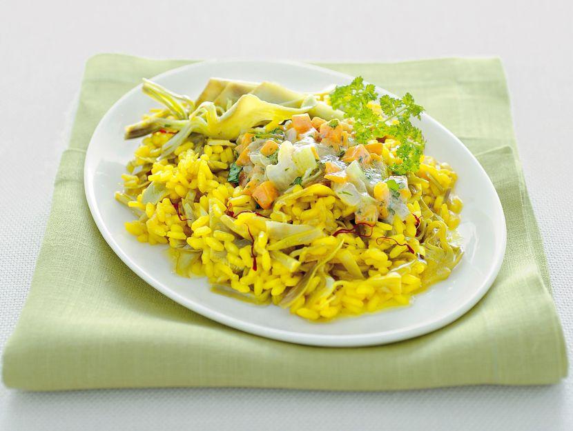 risotto-giallo-con-carciofi-in-gremolada