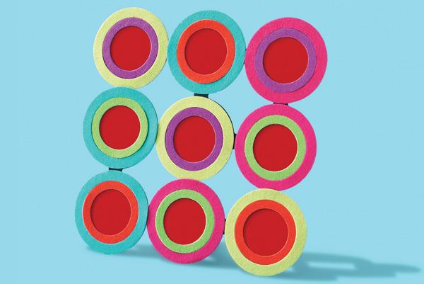 Mille righe mille colori: il portafoto