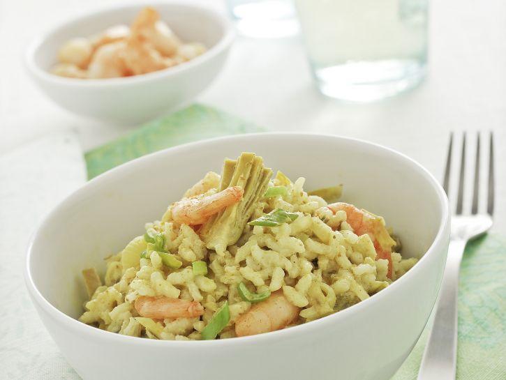 riso-con-gamberetti-e-carciofi-al-curry preparazione
