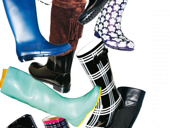 copertina scarpe pioggia