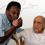Pelé e Oscar Niemeyer