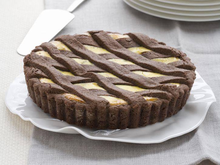 crostata-al-cioccolato-con-ricotta-e-pere preparazione