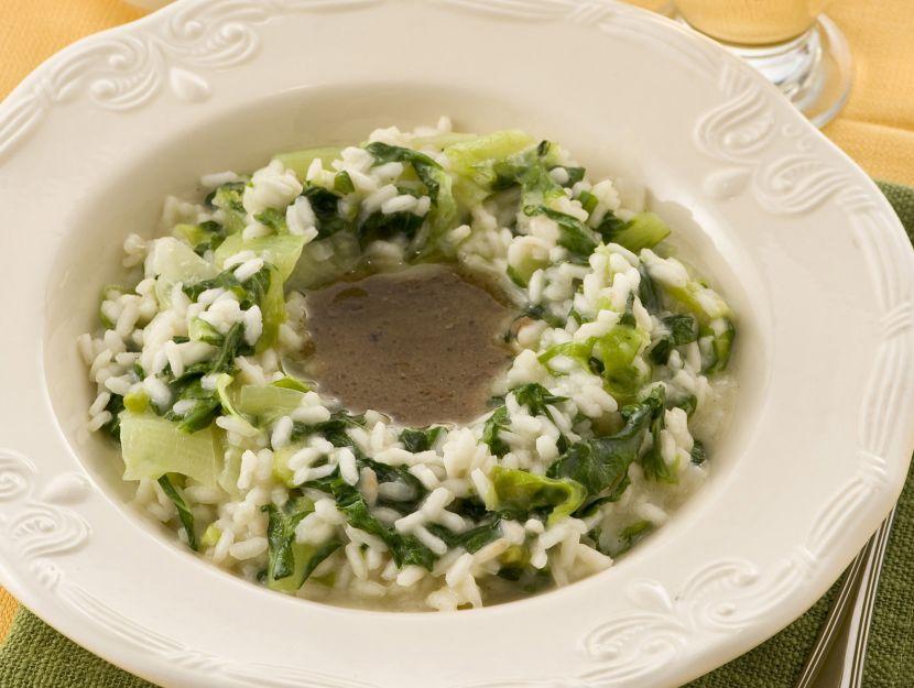 risotto-con-insalata-romana-e-acciughe
