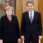 Angela Merkel e il premier Zapatero
