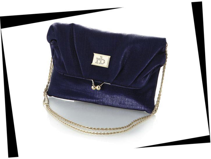 Di Roccobarocco la borsa blu metallico