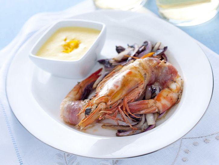 gamberi-al-lardo-con-zabaione-salato immagine