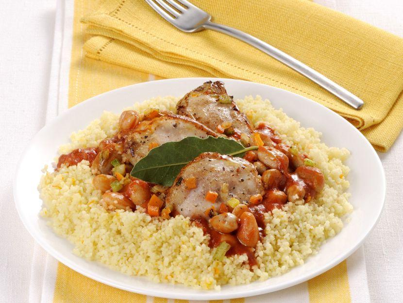 pollo-e-fagioli-con-cous-cous-profumato
