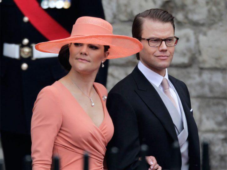 La principessa di Svezia Victoria con il marito