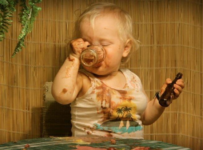 Bevendo alcolici...