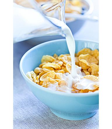 Latte parzialmente scremato con fiocchi di cereali