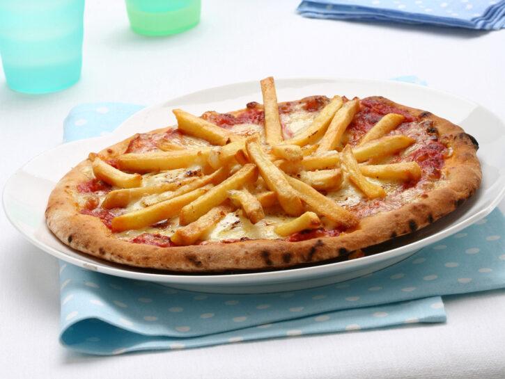 Pizza con le patatine
