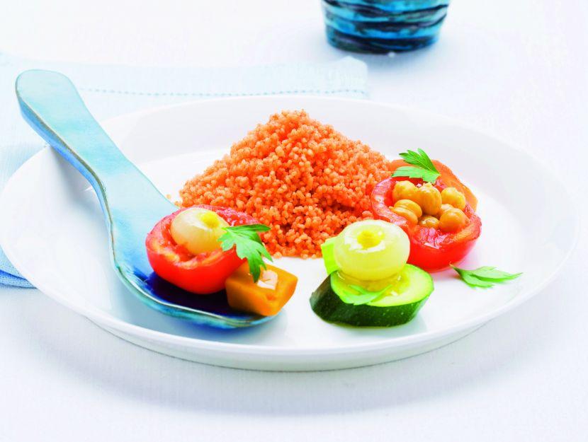 cous-cous-al-pomodoro-con-verdure ricetta