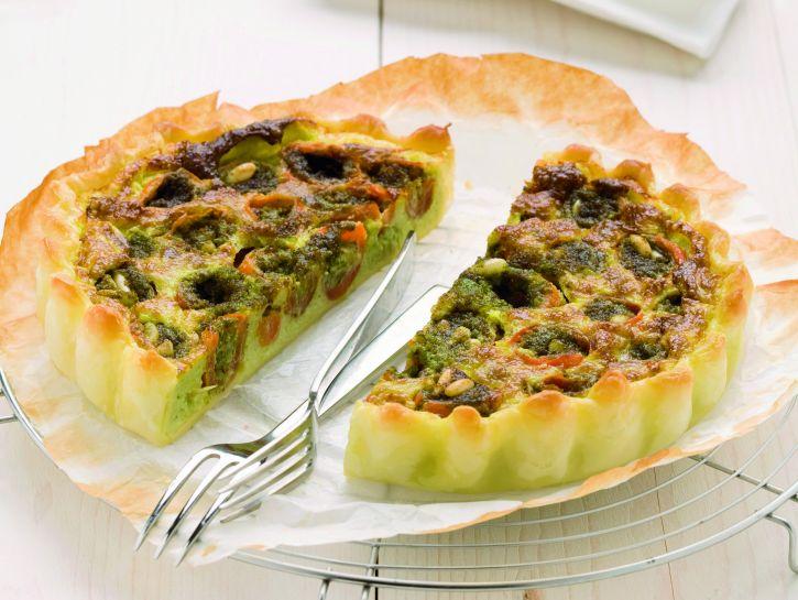 quiche-di-fagiolini-e-pomodorini-farciti ricetta