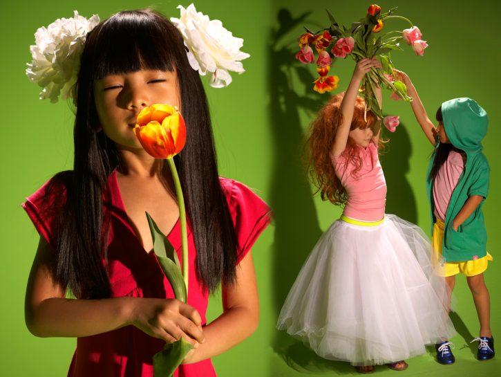 cover bambini fiori