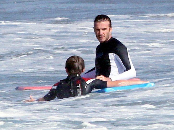 David Beckham surf 01