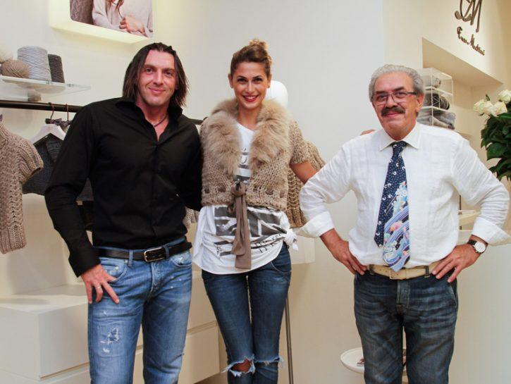 Melissa Satta con Enzo e Cristian Mantovani